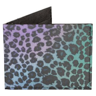 Colorful Leopard Animal Print Billfold Wallet Tyvek® Billfold Wallet