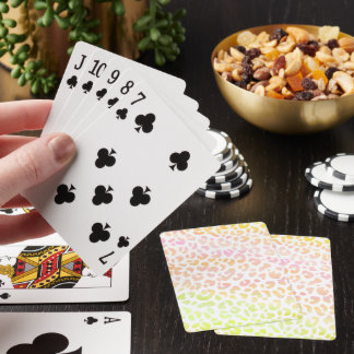 Colorful leopard  playing cards