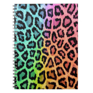 Colorful leopard print notebook