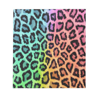 Colorful leopard print notepad