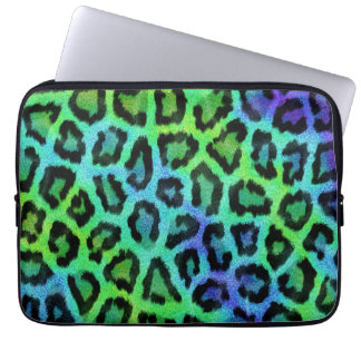 Colorful leopard print pattern laptop sleeve