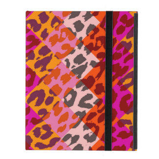 Colorful Leopard Print Squares Checker Pattern 11 iPad Cover