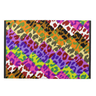 Colorful Leopard Print Squares Checker Pattern 12 Cover For iPad Air