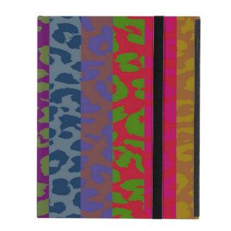 Colorful Leopard Print Stripe Pattern 2 iPad Cases
