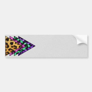 Colorful Leopard Triangles Bumper Sticker