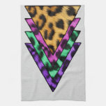 Colorful Leopard Triangles Towel