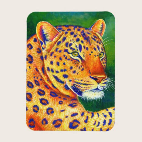 Colorful Leopard Wild Feline Flexible Magnet