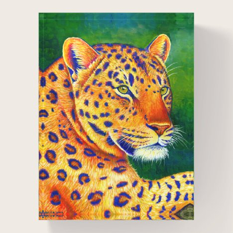 Colorful Leopard Wild Feline Paperweight