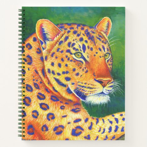 Colorful Leopard Wild Feline Spiral Notebook