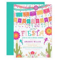 Colorful Let's Fiesta Bridal Shower Invitation