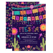 Colorful Let's Fiesta Rehearsal Dinner Invitation