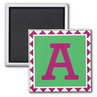 Colorful Letter 'A' - Magnet