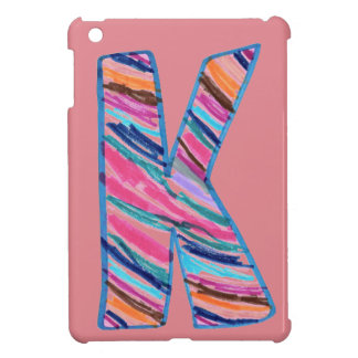 Colorful Letter K as in Kay Case For The iPad Mini