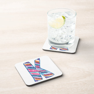 Colorful Letter K as in Kay Coasters