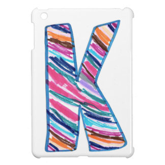Colorful Letter K as in Kay iPad Mini Case