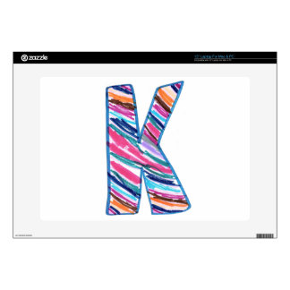 Colorful Letter K as in Kay Laptop Skins