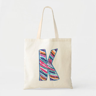 Colorful Letter K as in Kay Tote Bag
