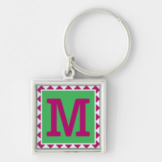 Colorful Letter 'M' - Keychain