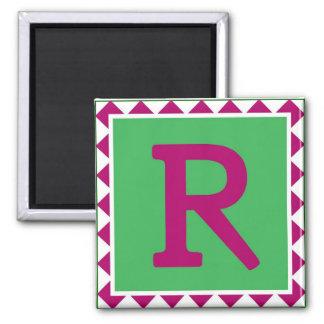 Colorful Letter 'R' - Magnet
