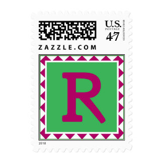 Colorful Letter 'R' Postage