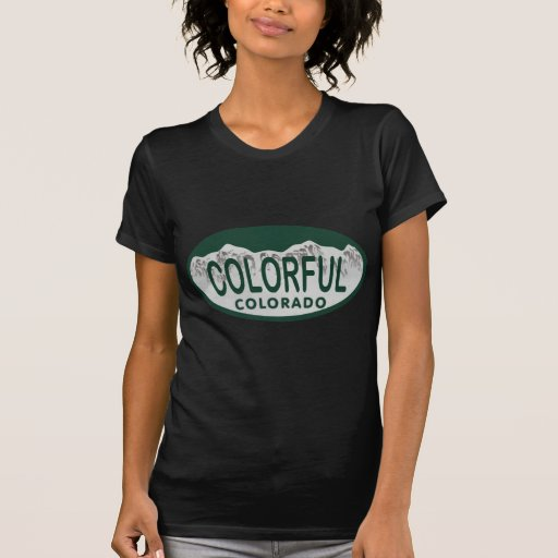 Colorful license oval tee shirts