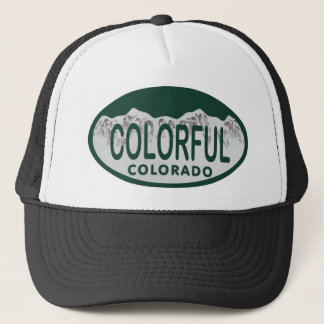 Colorful license oval trucker hat