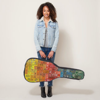 Colorful License Plates of the USA Guitar Case
