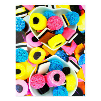 Colorful Licorice Candy Print Postcard
