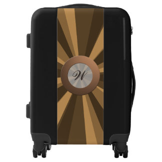 Colorful Light Beam any Color with Golden Monogram Luggage