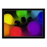 Colorful light bulbs - Poster