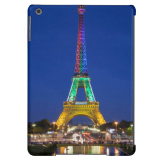 Colorful light display on the Eiffel Tower iPad Air Cover