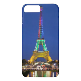 Colorful light display on the Eiffel Tower iPhone 7 Plus Case