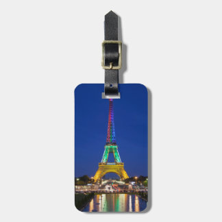 Colorful light display on the Eiffel Tower Tags For Bags