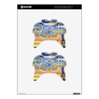 Colorful Light Fall Toned Abstract Horizon Sky Xbox 360 Controller Decal