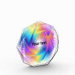 Colorful light images design - acrylic award