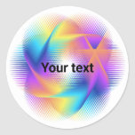 Colorful light images design - classic round sticker