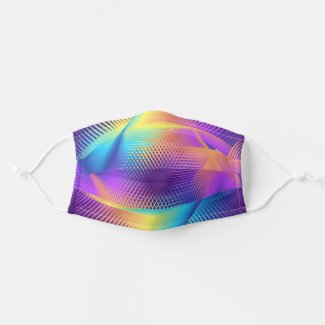 Colorful light images design - cloth face mask