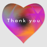 Colorful light images design heart sticker