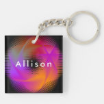 Colorful light images design keychain