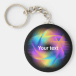 Colorful light images design - keychain