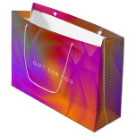 Colorful light images design large gift bag
