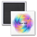 Colorful light images design - magnet