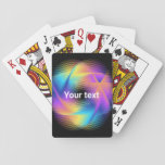 Colorful light images design - playing cards
