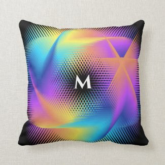 Colorful light images design - throw pillow