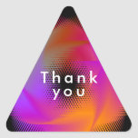 Colorful light images design triangle sticker