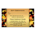 Colorful Light Sparkles Gift Certificate Template Double-Sided Standard Business Cards (Pack Of 100)