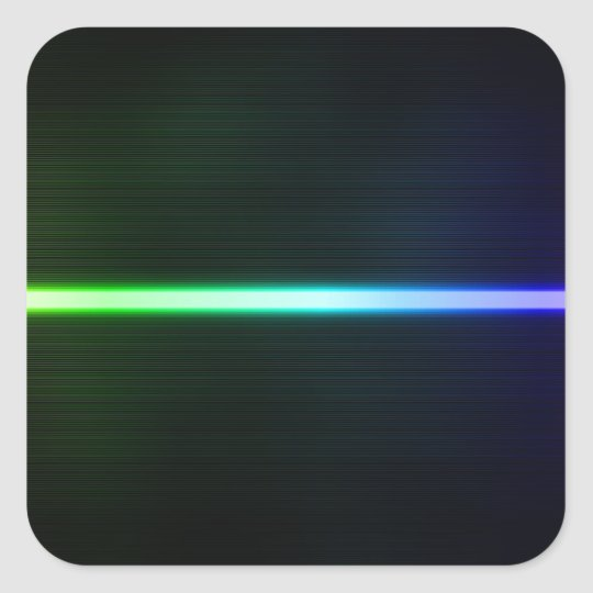 Colorful Light Square Sticker