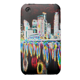 Colorful lighting city night iPhone 3 Case-Mate case