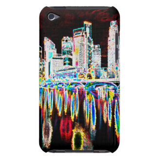 Colorful lighting city night iPod touch case