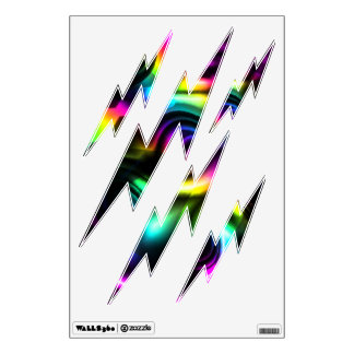 Colorful lightning wall decals (Customizable!)